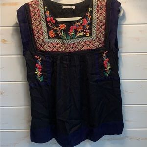 Beautifully Embroidered Anthropology Top